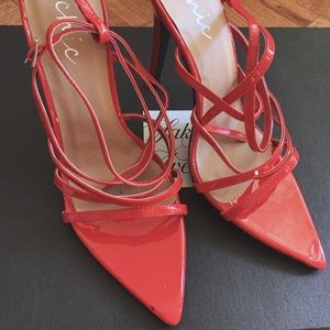 Chic Red Sexy Strap High Heel